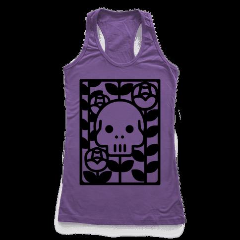 Flower Skull Racerback Tank Top