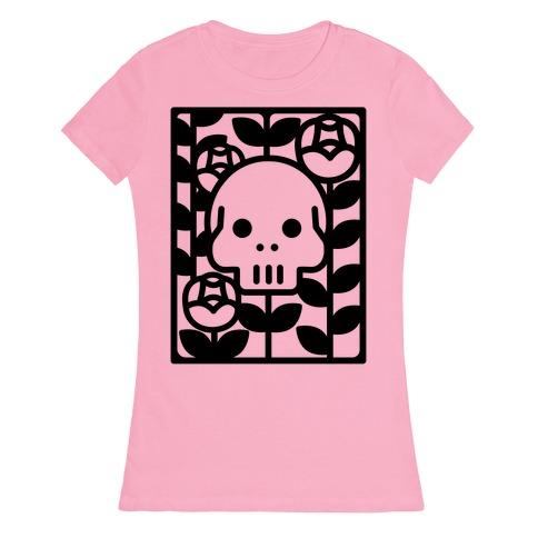 Flower Skull Womens T-Shirt