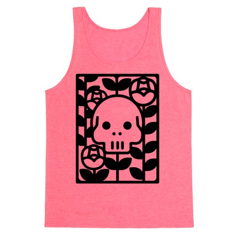 Flower Skull Tank Top