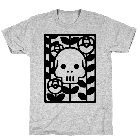 Flower Skull Mens T-Shirt