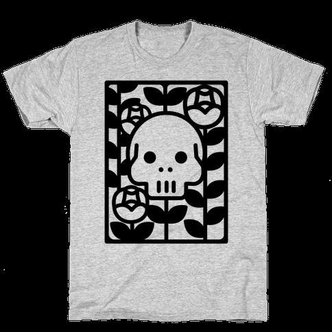 Flower Skull Mens T-Shirt
