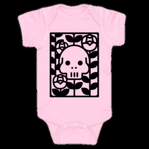 Flower Skull Baby Onesy