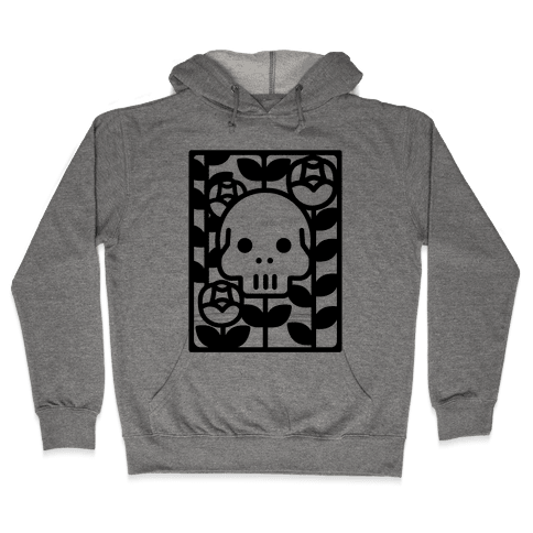 Flower Skull Hooded Sweatshirt