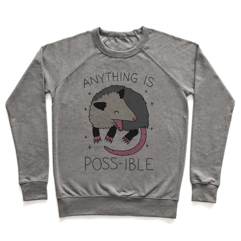 Anything Is Poss-ible Opossum Pullover