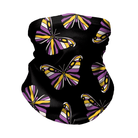 Non-binary Butterfly Neck Gaiter