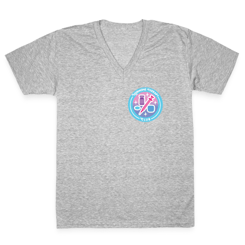 Hormone Therapy Club Patch V-Neck Tee Shirt