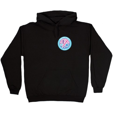 Hormone Therapy Club Patch Hooded Sweatshirt