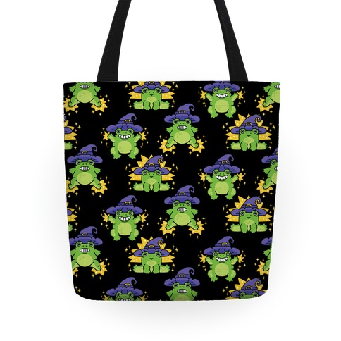 Magical Frog Witch Pattern Tote