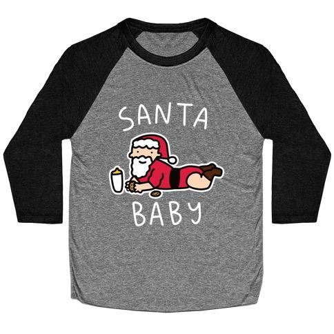 Santa Baby Baseball Tee