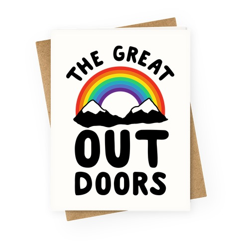 The Great OUT Doors Greeting Card