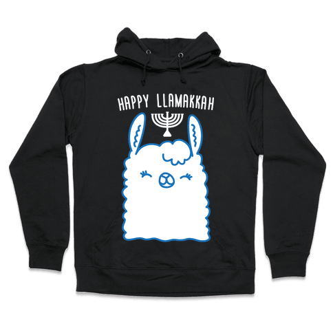 Happy Llamakkah Hooded Sweatshirt