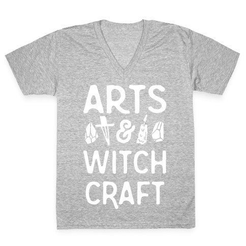 Arts And Witchcraft V-Neck Tee Shirt