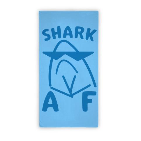 Shark AF Beach Towel Beach Towel