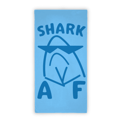 Shark AF Beach Towel Beach Towel