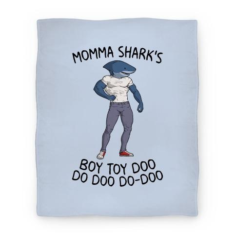 Momma Shark's Boy Toy Doo Doo Blanket