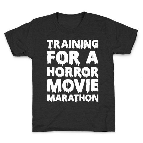 Training For A Horror Movie Marathon Kids T-Shirt