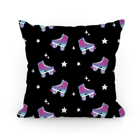 Galaxy Rollerskates Pattern Pillow