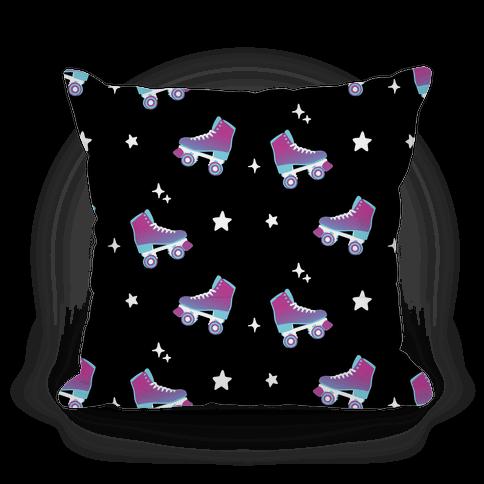 Galaxy Rollerskates Pattern Pillow