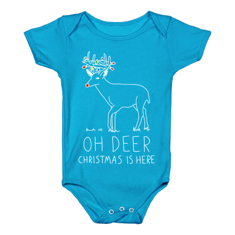 Oh Deer Christmas Is Here Baby Onesy