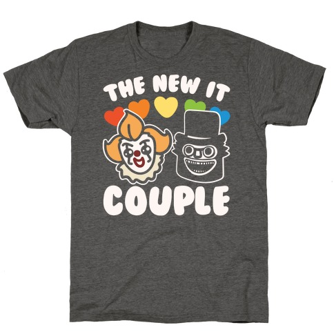 The New It Couple Parody White Print T-Shirt