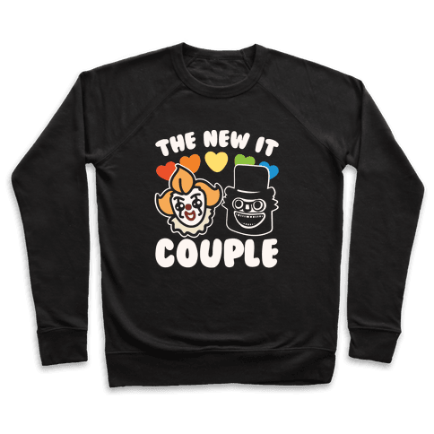 The New It Couple Parody White Print Pullover