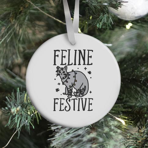 Feline Festive  Ornament