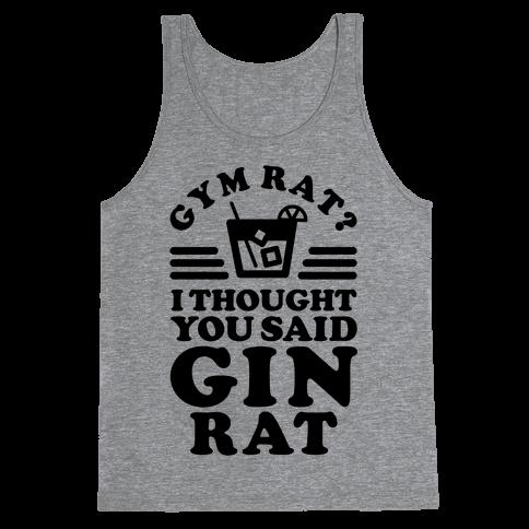 Gym Rat Gin Rat Tank Top