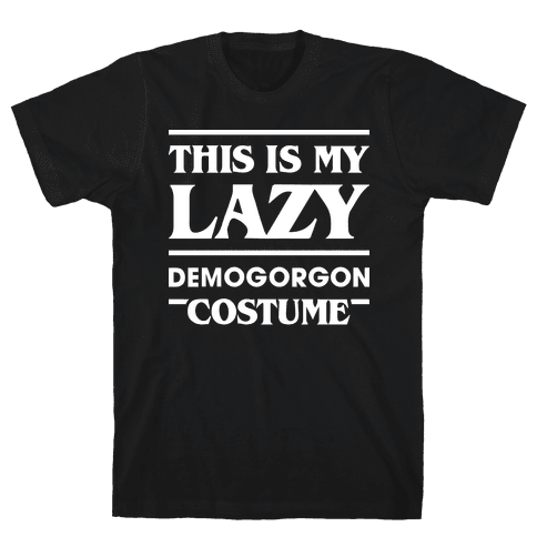 This Is My Lazy Demogorgon Costume (White) Mens T-Shirt