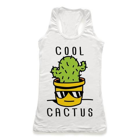 Cool Cactus Racerback Tank Top