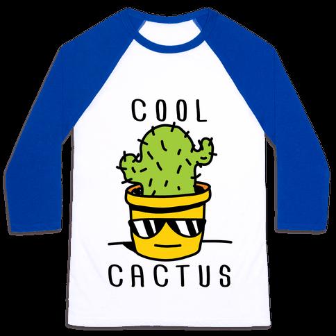 Cool Cactus Baseball Tee