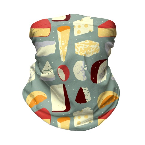 Cheese Pattern Neck Gaiter