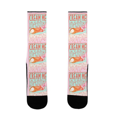 Cream Me Daddy Cannoli Sock