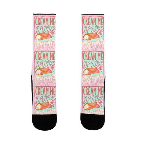 Cream Me Daddy Cannoli Sock