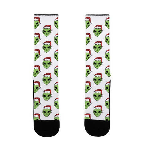 Aliens in Santa Hats Sock