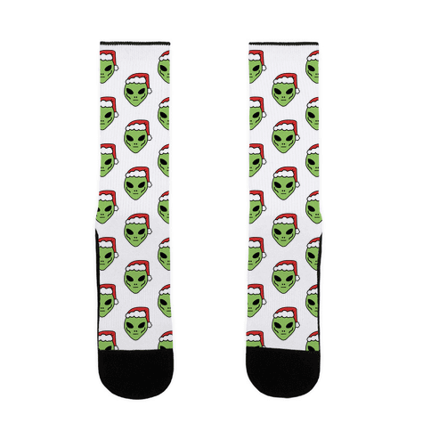 Aliens in Santa Hats Sock