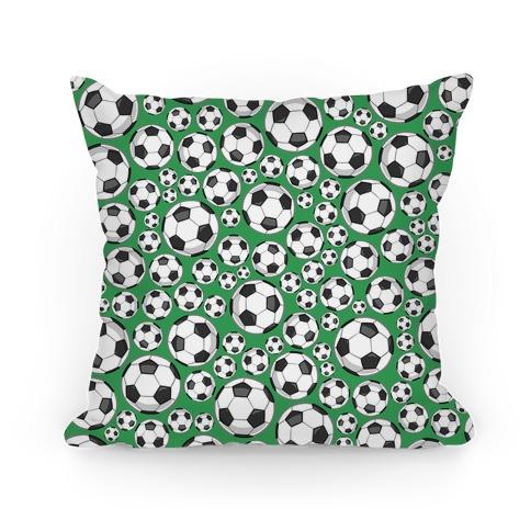 Soccer Balls Pattern Pillow