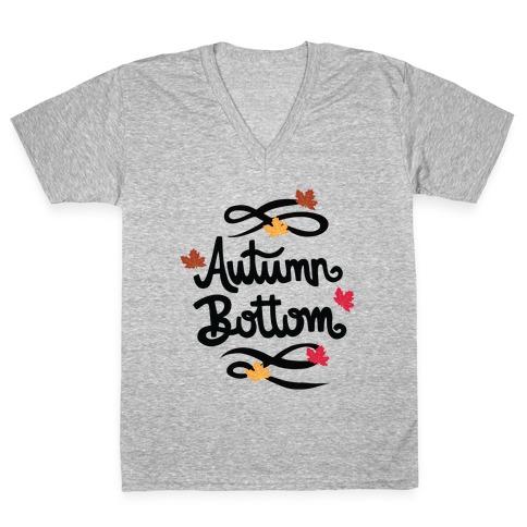 Autumn Bottom V-Neck Tee Shirt