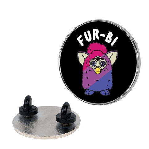 Fur-bi Bisexual Furby pin