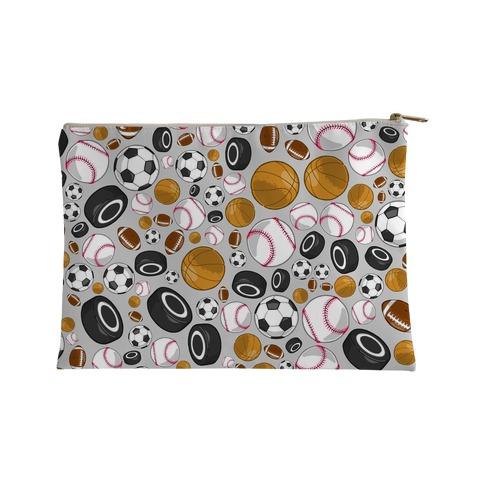Sports Balls Pattern Accessory Bag