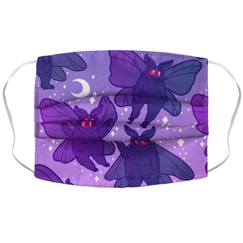 Chubby Mothman Nighttime Pattern Accordion Face Mask
