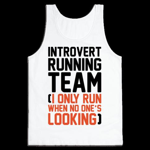 Introvert Running Team Tank Top