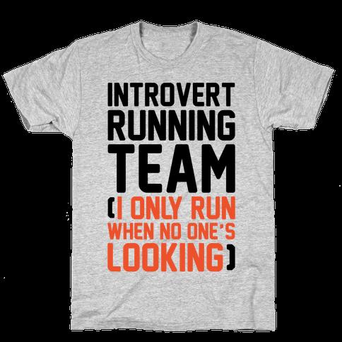 Introvert Running Team Mens/Unisex T-Shirt
