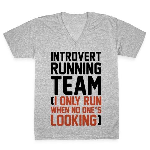 Introvert Running Team V-Neck Tee Shirt