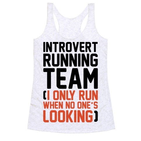 Introvert Running Team Racerback Tank Top