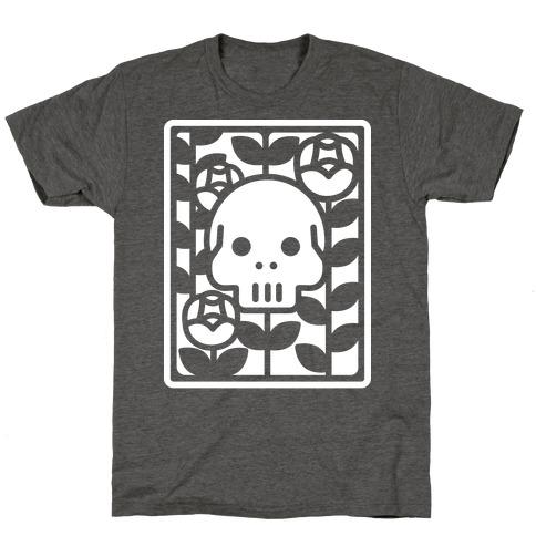 Flower Skull White T-Shirt