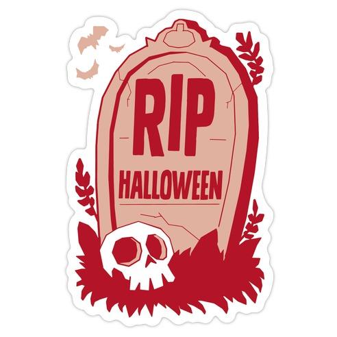 RIP Halloween Die Cut Sticker