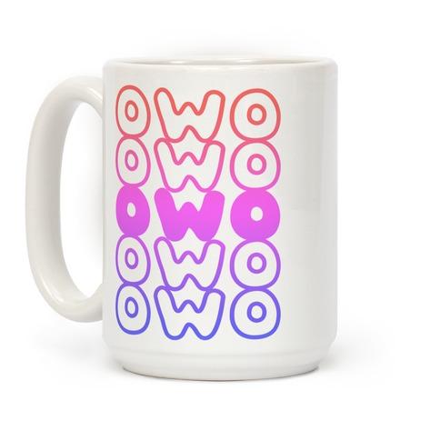 OWO Anime Emoticon Face Coffee Mug