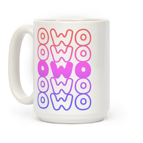 OWO Anime Emoticon Face Coffee Mug