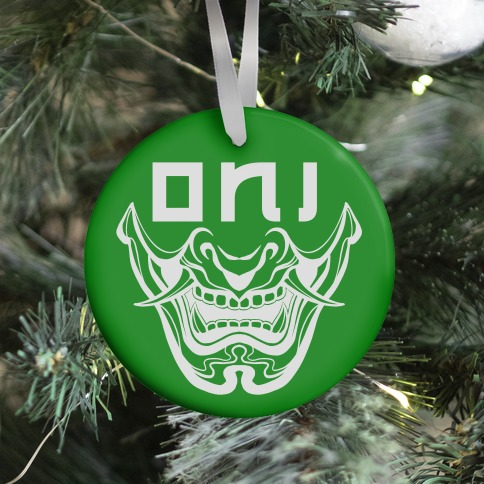 Oni Yokai (green) Ornament