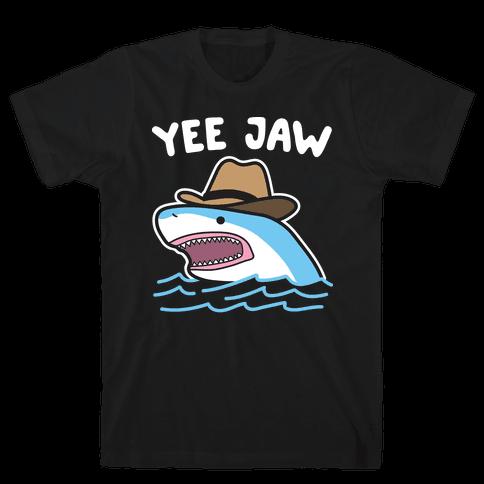 Yee Jaw Cowboy Shark Mens/Unisex T-Shirt